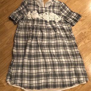 Ann Taylor Loft Plaid Dress Size Small